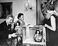 Danny Kaye and Dr. Asa Matsuoka Presenting Dolls to Letitia Baldrige-B.jpg