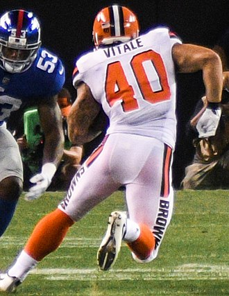 Danny Vitale - Vitale with the Cleveland Browns in 2017