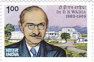Darashaw Nosherwan Wadia - Wadia on a 1984 stamp of India
