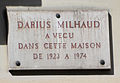 Darius Milhaud plaque - 10 Blvd de Clichy, Paris 18.jpg