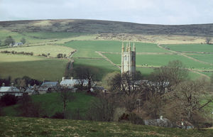 The Great Thunderstorm - The tower of Widecombe church today