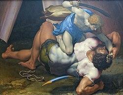 Daniele da Volterra: David and Goliath (recto)
