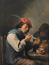 David teniers ii le fumeur flamand a smoker lighting a pipe in an inte d5622866g.jpg