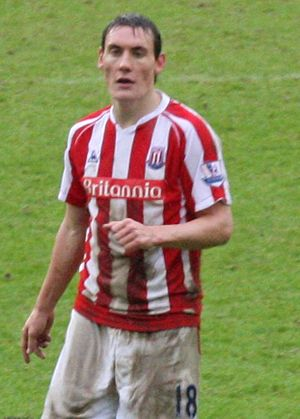 Dean Whitehead - Whitehead playing for Stoke City in 2010