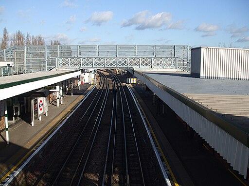 Debden station look high eastbound