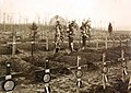 Decorated American graves in France on All Saint's Day, Chierry, France, 1918 (28327630665).jpg