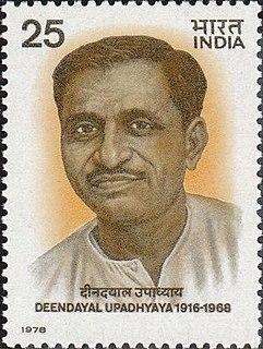 Deendayal Upadhyaya Indian RSS thinker and former leader of the political party Bharatiya Jana Sangh