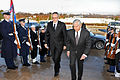 Defense.gov News Photo 110202-D-9880W-010 - Secretary of Defense Robert M. Gates right escorts Croatian Defense Minister Davor Bozinovic left through an honor cordon and into the Pentagon on.jpg
