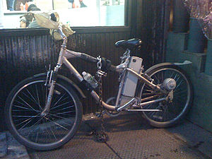 Bicycle used by a restaurant deliveryman in NY...