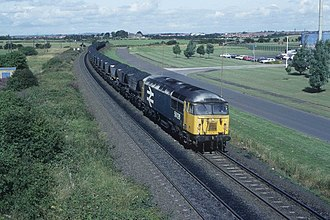 Blyth Power Station - A train of coal is delivered to the station