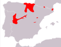 Dendrocopos minor range map in Spain.png