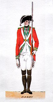 Watercolour. Foot soldier in uniform.