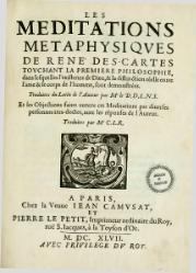 René Descartes: Méditations métaphysiques