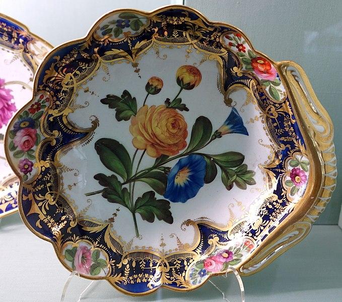 File:Dessert service, Coalport Porcelain Manufactory, probably 1830s-1840s - Harewood House - West Yorkshire, England - DSC01657.jpg