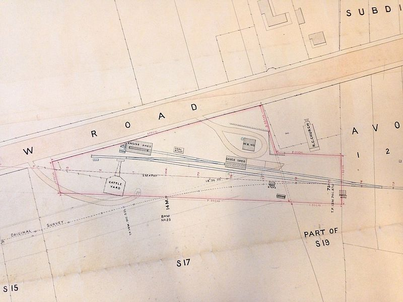 Location of original stopping point from 1892 PWD plan Detail of Newcastle, 1892 from PWD plan 2166.JPG