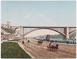 Washington Bridge - Washington Bridge and Harlem River Speedway, early 20th century