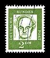Deutsche Bundespost - Bedeutende Deutsche - Gerhart Hauptmann - 2 Deutsche Mark.jpg