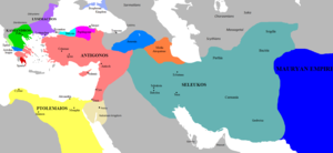 Antigonus I Monophthalmus - The Kingdoms of Antigonos and his rivals circa 303 BC.