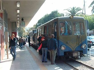 Billard - A Billard train for the Diakofto railway (Greece), made up of two cars with a motor van containing a generator to power the traction motors.