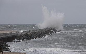 Vorupør - The pier of Vorupør at storm