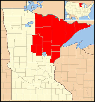Roman Catholic Diocese of Duluth - Image: Diocese of Duluth map 1