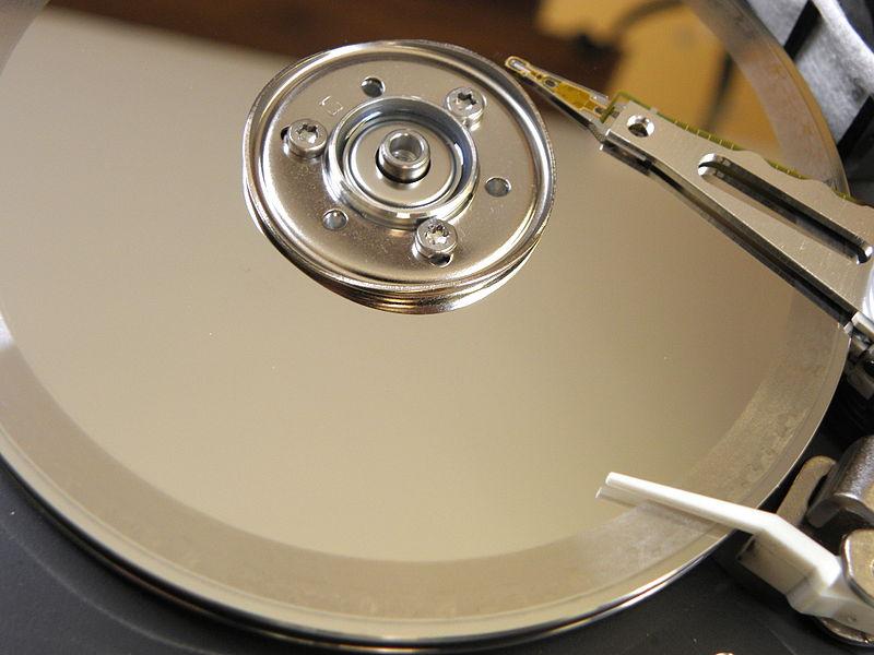 Plateaux de disque dur endommagé