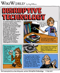 WikiWorld comic based on article about Disruptive Technology
