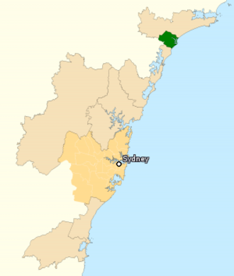 Division of Newcastle - Division of Newcastle in New South Wales, as of the 2016 federal election.