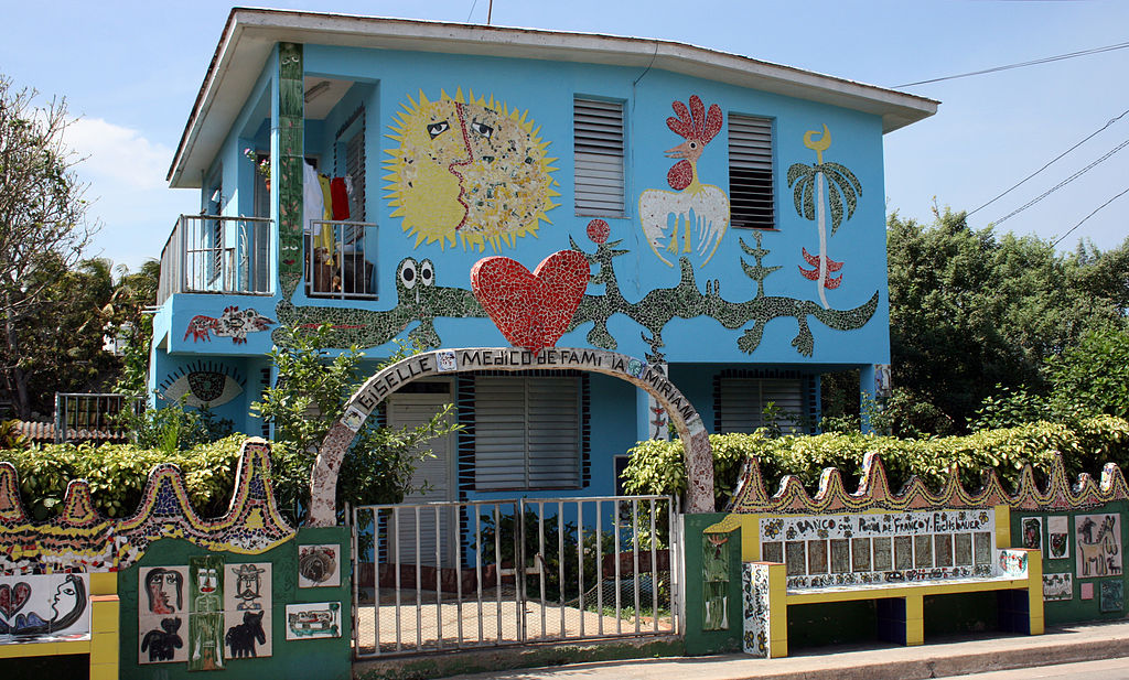 Doctor's surgery in Jaimanitas, decorated by artist José Rodríguez Fuster, Havana, Cuba