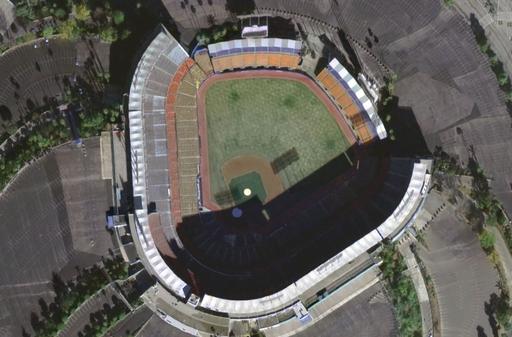 Dodger Stadium satellite view