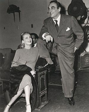 Dolores Moran - Dolores Moran with husband Benedict Bogeaus, ca. 1950s
