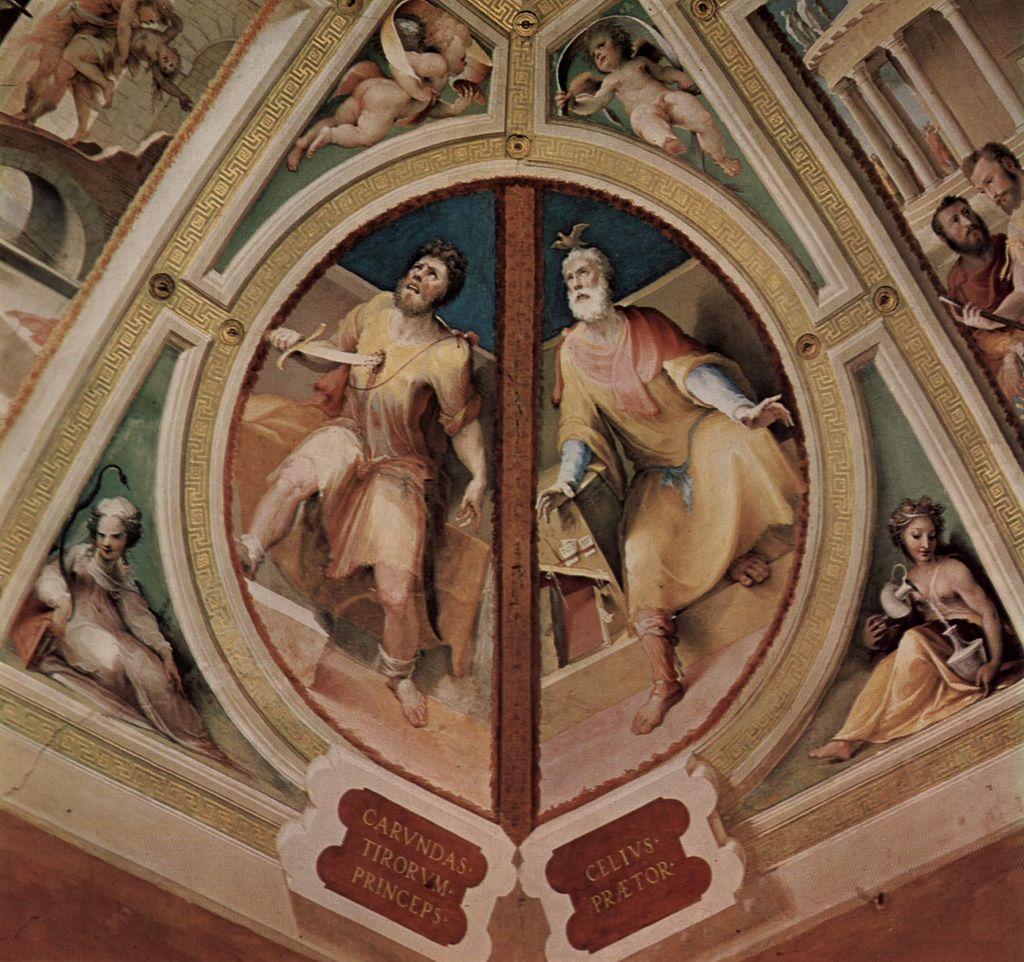 Domenico Beccafumi, Figure dell'antica Roma, affresco Sala del Concistoro, Palazzo Pubblico, Siena