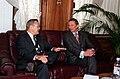 Donald Rumsfeld talks with Sergei Ivanov, 2001.jpg