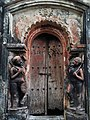 Doorway of 2nd of three Aatchala temple of Bhuinya family of Alui village under Ghatal Police Station at Paschim Medinipur District in West Bengal 14.jpg