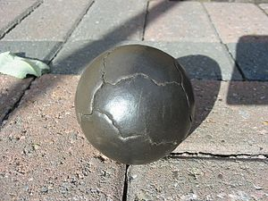 Dorodango - A polished dorodango, showing some cracks