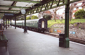 Swanage Railway - Swanage station is decorated with railway memorabilia.