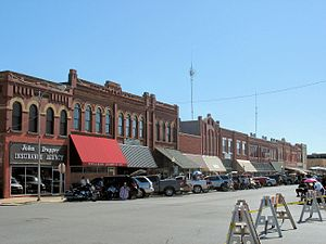 National Register of Historic Places listings in Caddo County, Oklahoma - Image: Downtown Anadarko, Oklahoma