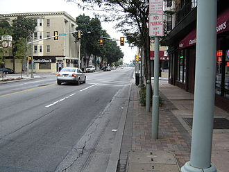 Ardmore, Pennsylvania - Lancaster Ave/US-30 runs through downtown Ardmore.