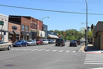 Brighton, Michigan - Image: Downtown Brighton Michigan Main Street