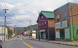 View north along Main Street