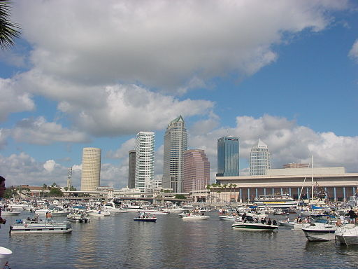 Downtown Tampa During Gasparilla Pirate Fest 2002