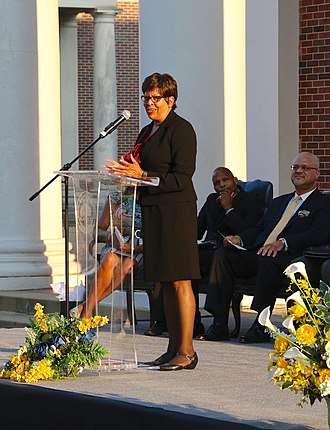 Stillman College - Dr. Cynthia Warrick at SGA Installation in September 2018