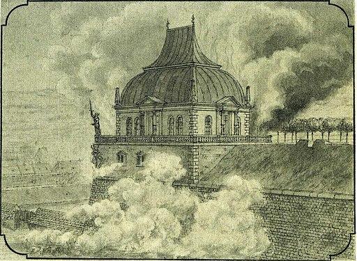 Dresden Erstes Belvedere Explosion 1747 Friedrich von Hagedorn