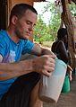 Drinking thobwa, Malawi.JPG