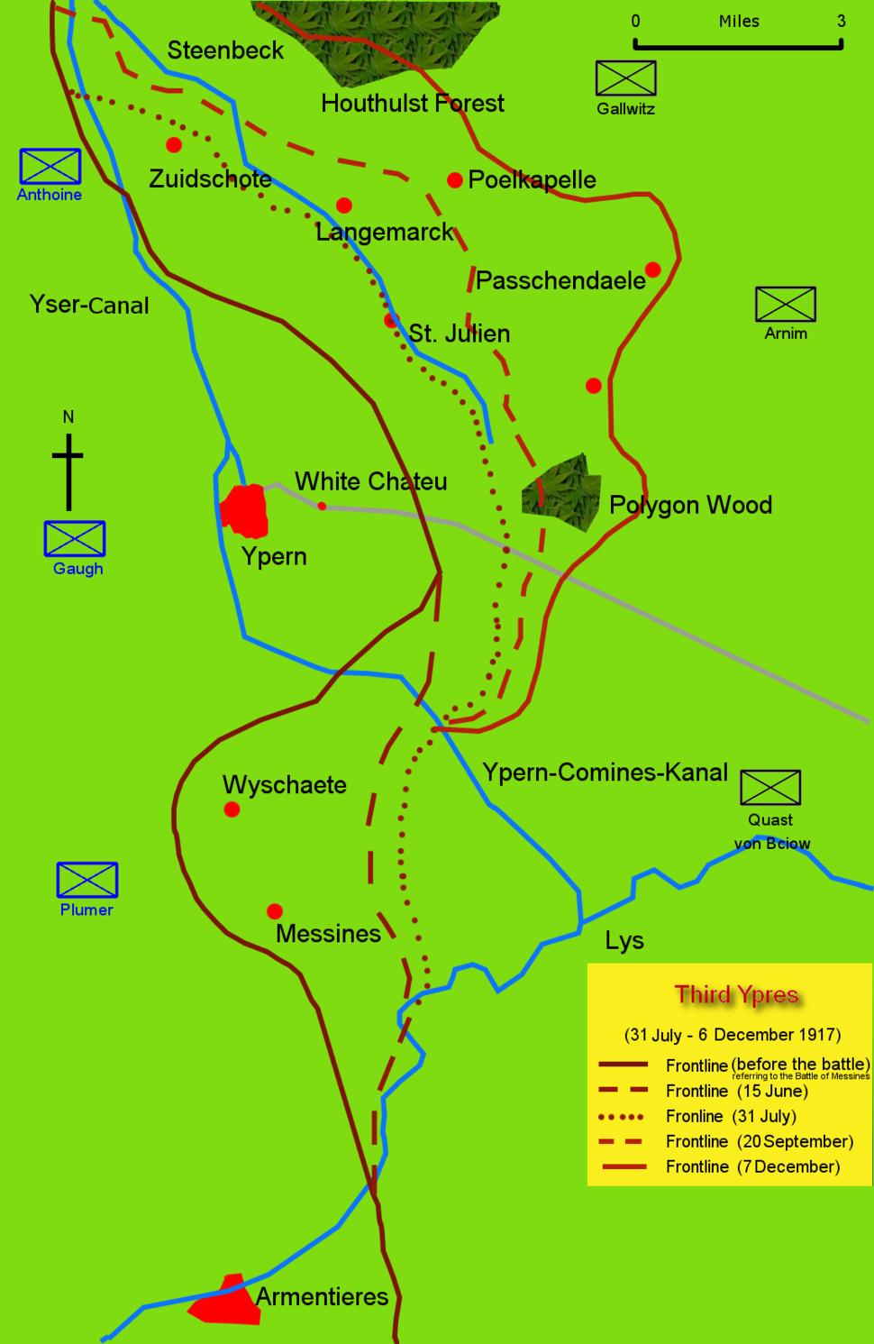 Dritte Flandernschlacht - Karte-2