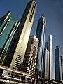Dubai - 2011-03-23 Sheikh Zayed Road –- شارع الشيخ زايد - Die 8 Türme von links, Siehe Kommentar unten - panoramio.jpg