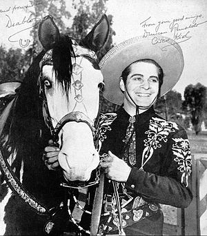 Duncan Renaldo - Renaldo as The Cisco Kid with Diablo