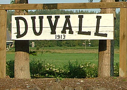 The Duvall Welcome Sign.