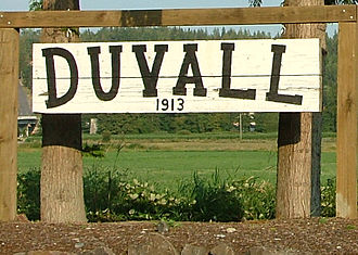 Duvall, Washington - Duvall town sign