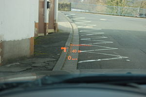 Automotive head-up display - HUD in a BMW E60